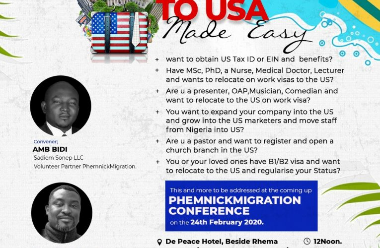ILORIN AGOG AS PHEMNICK MIGRATION CONFERENCE TO HOLDS ON THE 24TH FEBRUARY 2020