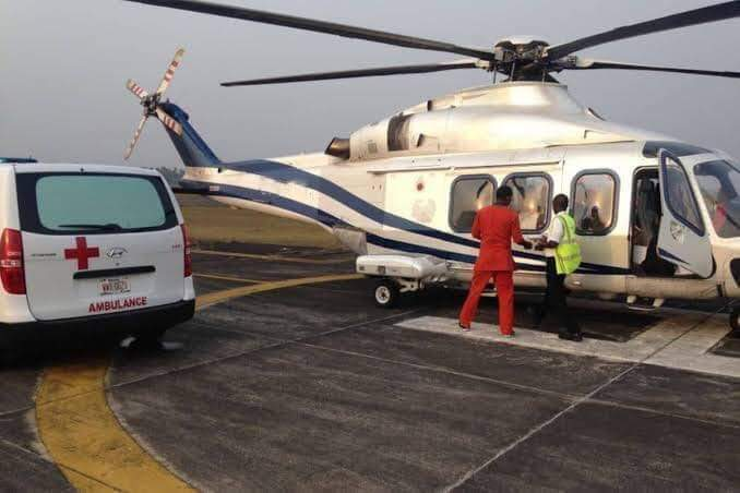 ABBA KYARI ARRIVES LAGOS IN AIR AMBULANCE