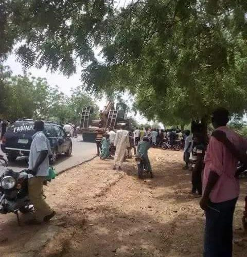 COVID-19 Patients Protest Over Inadequate Medical Attention, Block Highway, Destroy Properties In Gombe