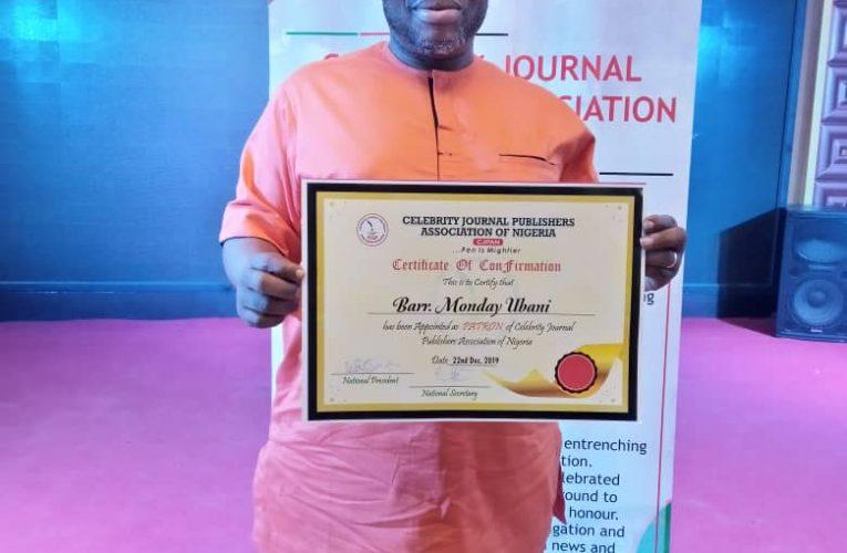 CJPAN Celebrates Patron, Monday Ubani On His Birthday