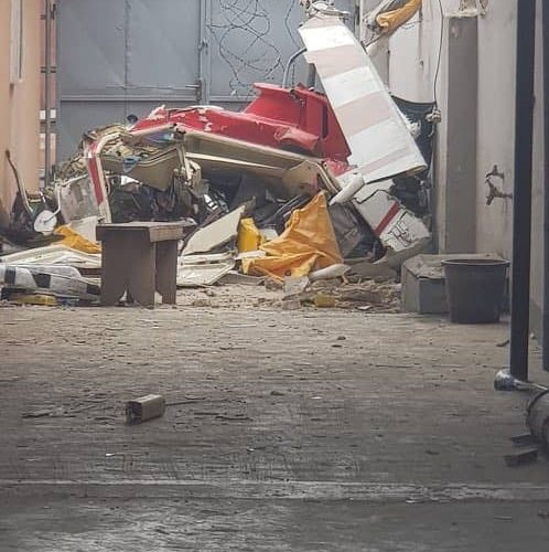 Breaking: Helicopter Crashes Into The Heart Of Ikeja