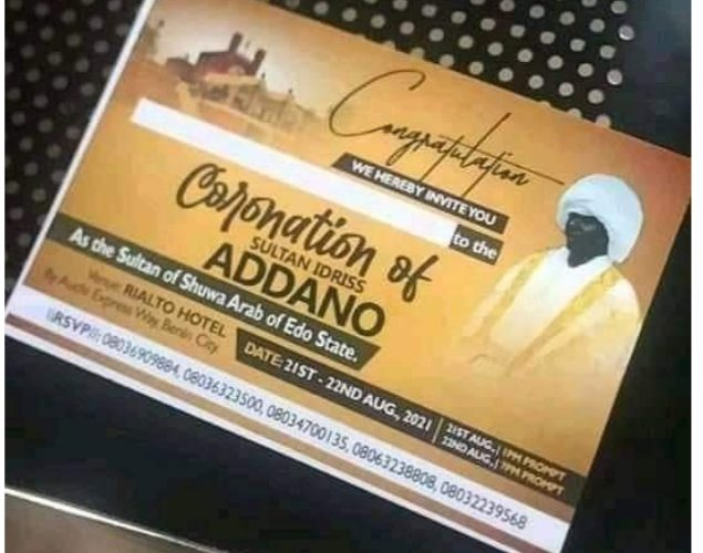 Sultan of Edo Coronation Attempt:   'Sacrilegious, A Threat To Peace, Security'…Edo State Govt…Spits Fire